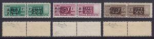 Trieste A 1947-48 Pacchi postali I° emissione serie nuova MNH** gomma integra