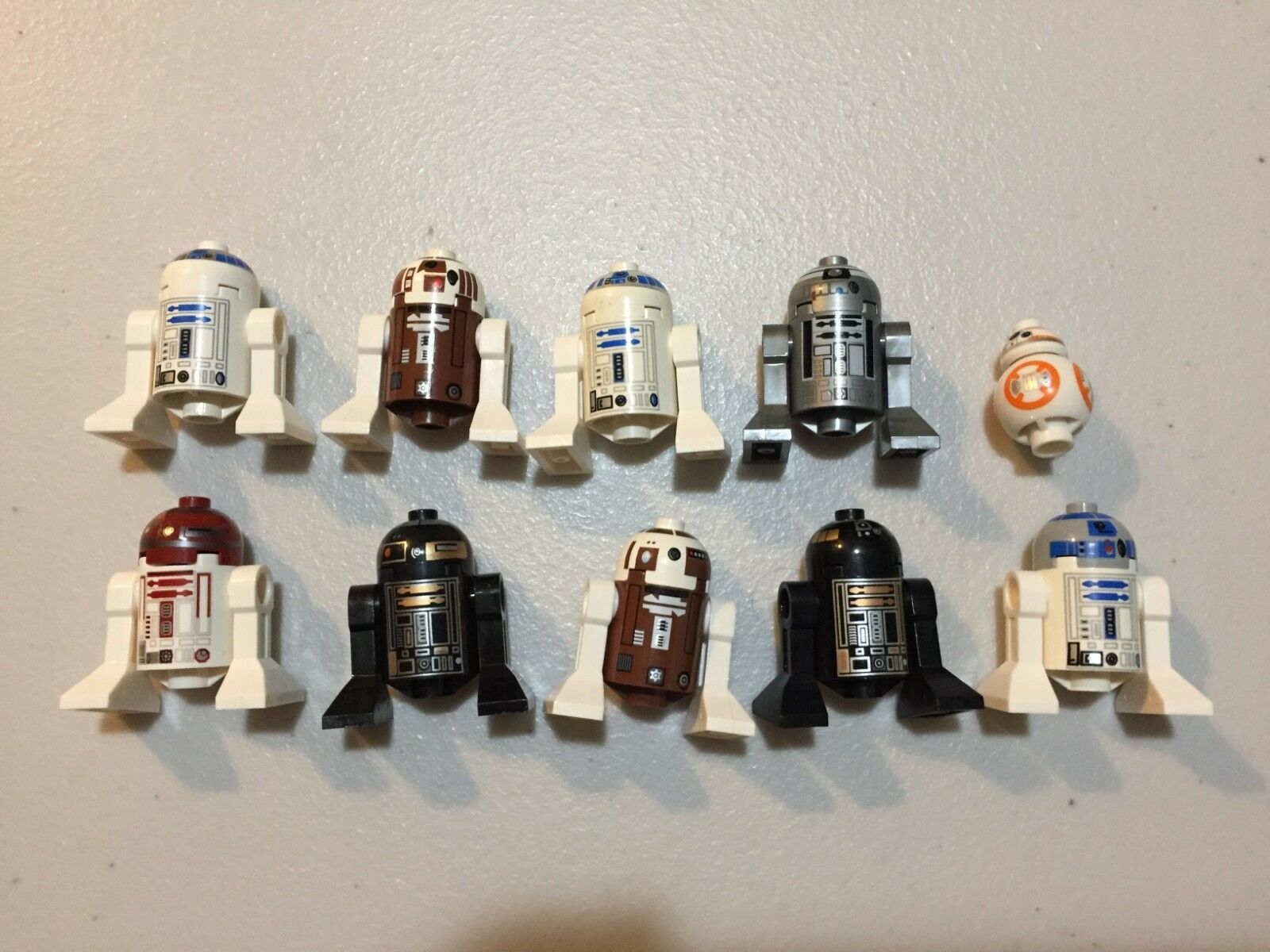 LEGO Star Wars Astromech Droid Lot of 10 minifig  R2-D2 Others m499B