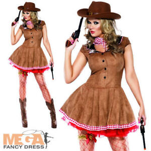 Sexy-Western-Cowgirl-Ladies-Fancy-Dress-Womens-Adults-Cowboy-Costume-UK-8-18-New