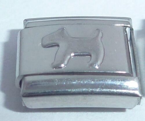 Perro de plata encanto italiano-Terrier Perros Terrier 9mm se adapta Classic Pulseras N301
