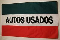 Autos Usados Flag 3' X 5' Deluxe Indoor Outdoor Business Banner