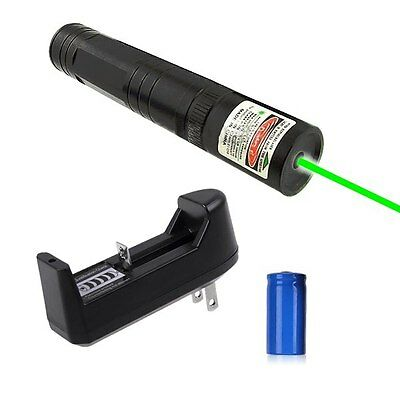 532nm Green Laser Pointer Light Pen Lazer Beam High Power 5mw + 16340 + Charger