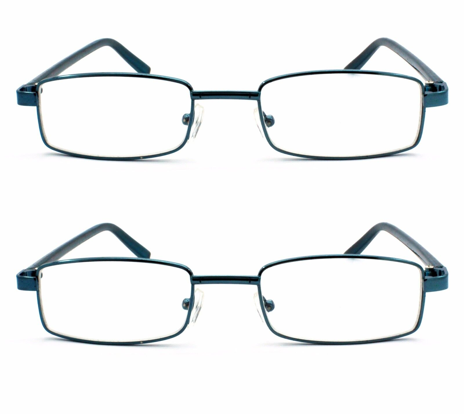 2 Pack Blue Color Metal Frame Reading Glasses with Hard ...