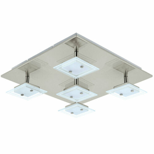 LUXE DEL Plafonnier Chambre Verre Spot Lampe Satiné pivotant