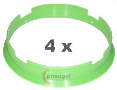 4 Pezzi Anelli Centraggio Plastica 66.6mm Su 65.1mm Verde Chiaro Rapida Dissipazione Del Calore