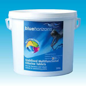 200g Multifunctional Chlorine Tablets Swimming Pool Spa Hot Tub Chemicals 2kg Ebay