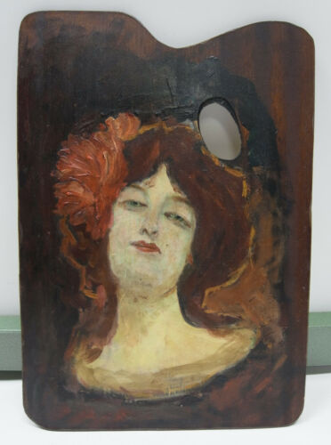 Oil PaintingPortrait a Young Lady on One Paintersum 1900Burlesque