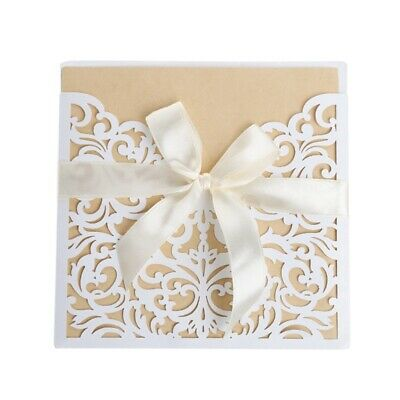 10x Wedding Invitation Cards Kit With Envelopes Seals Personalized Printing