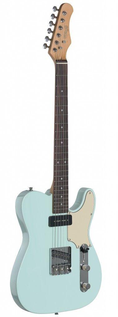 NEW Stagg SET-CST T Series Vintage Custom Electric Guitar - SONIC LIGHT Blau
