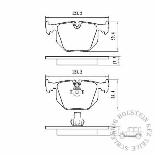 BB.8226 Bremsbelagsatz Brake pads Hinterachse für BMW Land Rover