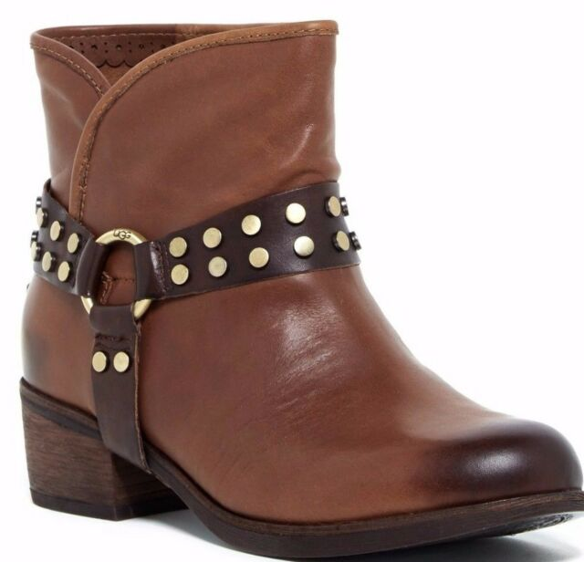 b0a072b1928 UGG Australia Darling Harness Leather Ankle Boot Whiskey Brown Size 6