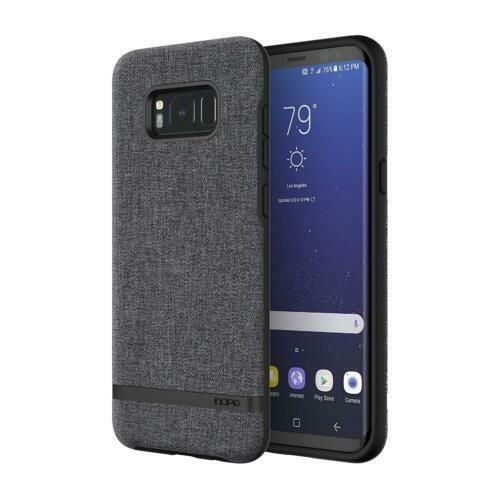new style 65ac9 a356f Incipio Esquire Carnaby Fabric Nylon Textured Slim Case for Galaxy S8