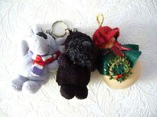 Little Lot of 3 Key ring Plush Nici Enesco and Scottish Terrier Snowman
