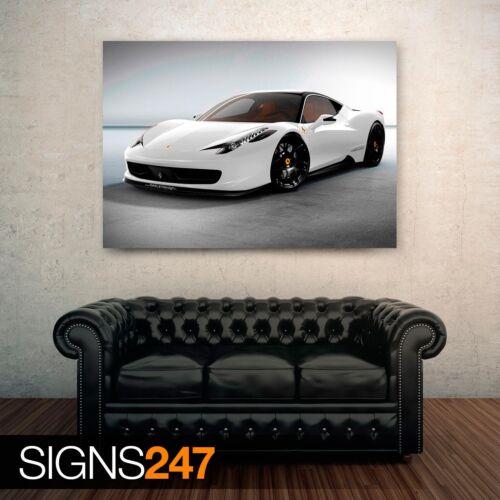0378 Lunettes Design Ferrari 458 Italia Voiture AFFICHE-POSTER print A1 A2 A3 A4