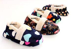 Details zu Hübsche warme DamenMädchen Hausschuhe Pantoletten 4 Modelle WHM 36 GR.36 41