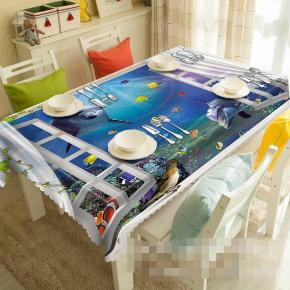 3D Seabed 4 Tablecloth Table Cover Cloth Birthday Party Event AJ WALLPAPER AU