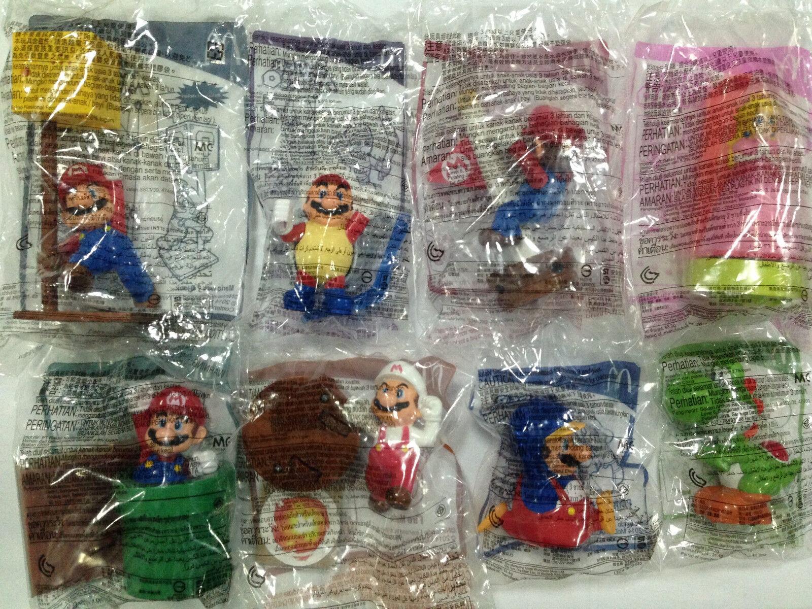 McDonald's Happy Meal Toys SUPER MARIO 2014 ASIA (8 Pieces In Set)
