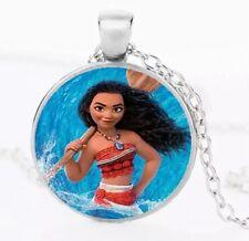Disney Princess Moana Necklace Pendant Silver US Seller