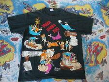 Vintage 90's THE FLINTSTONES Cartoon All Over Print Rare T Shirt Adult size XL