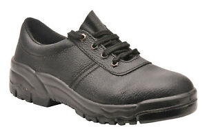 Portwest-FW14-Steelite-Black-Leather-Work-Shoe-with-Protective-Steel-Toecap-ASTM