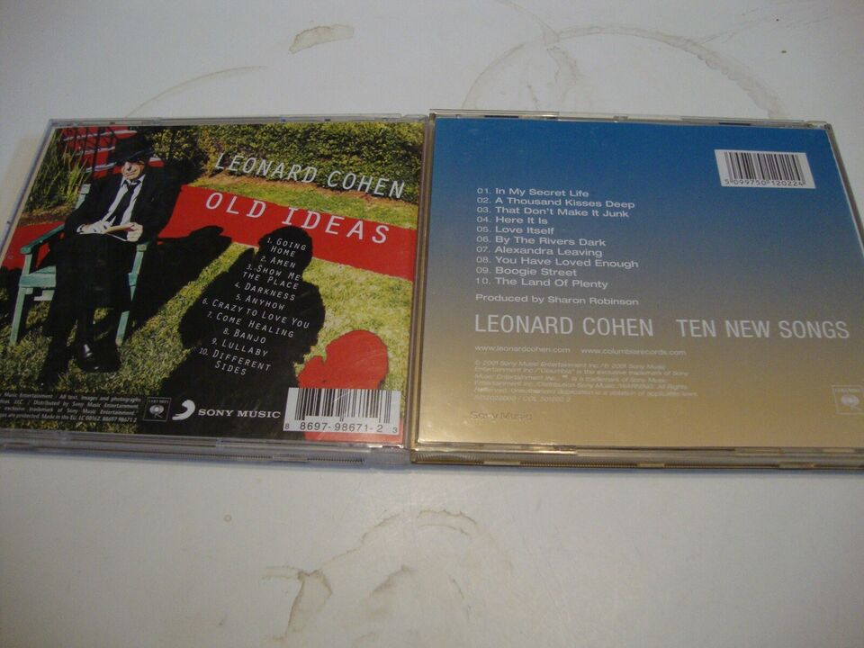 LEONARD COHEN.: 11 stk Leonard Cohen CDèr, rock