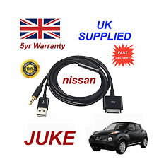 For Nissan JUKE iPhone iPod USB & Aux Cable replacement (Black)