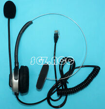 H100 Monaural Call Center Headset RJ9 Top for PLT Altigen Ascom Ericsson hybre