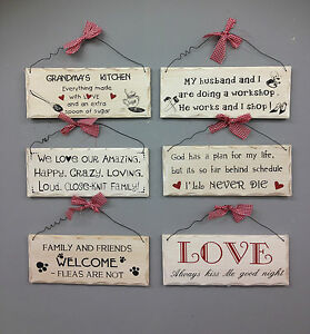 SHABBY-CHIC-WOODEN-PLAQUE-SIGNS-HANGING-WALL-WORDS-DOOR-HOME-GIFT-XMAS