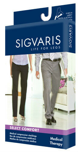 Sigvaris 860 Select Comfort Series 30-40 Women's Thigh High OPEN Toe Compression