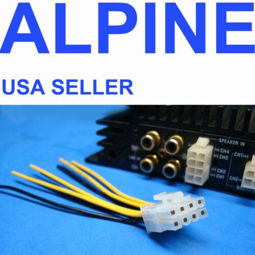 ALPINE 8-PIN PLUG WIRE HARNESS AMPLIFIER AMP SPEAKER INPUT US SELLER