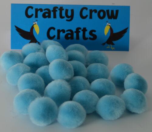 50 X 25mm azul de bebé Pompones