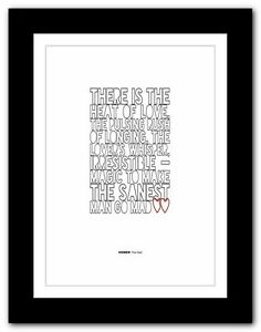 homer the iliad ❤ typography book quote poster art print