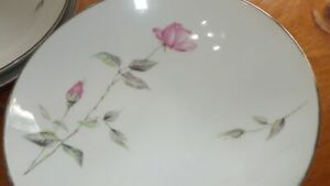 """Style House Dawn Rose Soup Bowls Coupe Bowls 6 7"""" round bowls Fine china"""