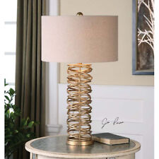 Item 2 Silver Champagne Layered Metal Rings Table Lamp Contemporary