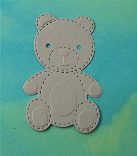 couleurs mélangées cartes new baby baby shower DIE CUT BABY OURS x 6