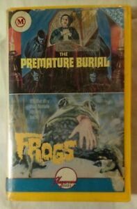 The-Premature-Burial-amp-Frogs-VHS-1962-1972-Horror-Playaround-Video-Double-Feat