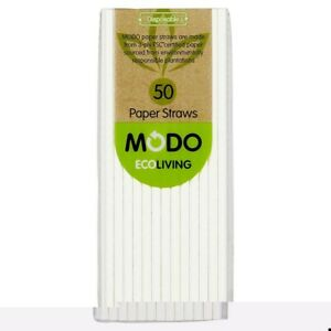 Modo Eco Living Disposable Paper Straws 50 pack
