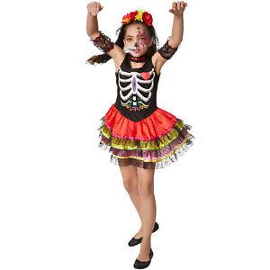 Ragazzi Ragazze Giorno dei Morti Costume Bambino Scheletro Halloween Costume Messicano