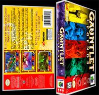 Gauntlet Legends - N64 Reproduction Art Case/box No Game.