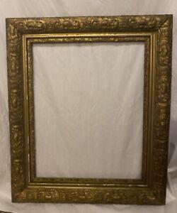 ORNATE-ANTIQUE-GOLD-GESSO-3-PART-FRAME-22-X-26-Wood-Frame