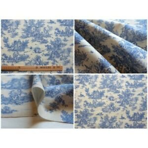 Coupon-fabric-toile-de-jouy-mini-pastoral-small-blue-beige-fd