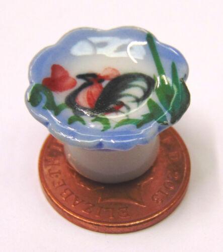 Escala 1:12 Plato de cerámica Gallo levantado tumdee Casa De Muñecas Accesorio de Cocina C30