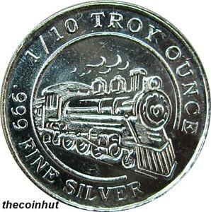 47-ea-1-10-Oz-999-Pure-Fine-Silver-Round-Monarch-Precious-Steam-Train-CH5177