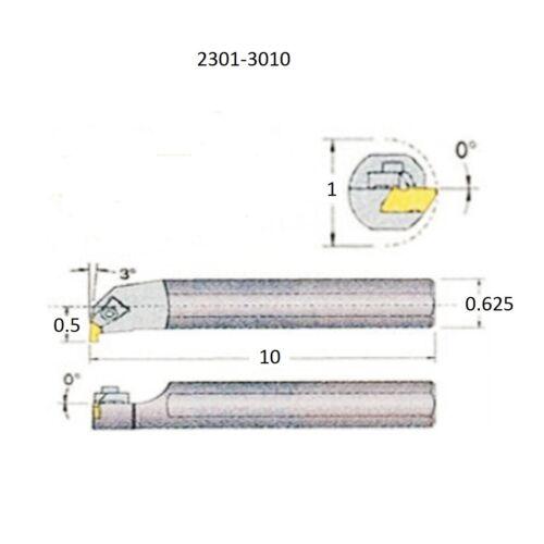 S10S-TNER2 RIGHT HAND INTERNAL THREADING /& GROOVING TOOL HOLDER 2301-3010