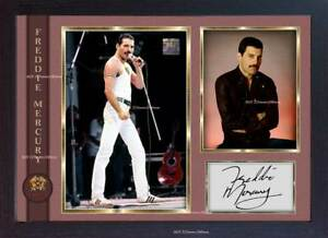 Freddie-Mercury-Queen-signed-autograph-pop-Music-FRAMED-photo-print