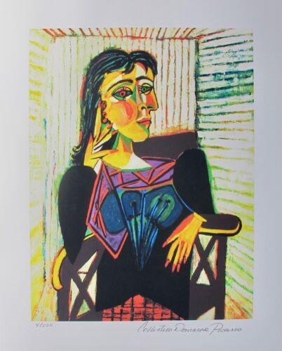 Pablo Picasso DORA MAAR Estate Signed Limited Edition Giclee Medium Size Art