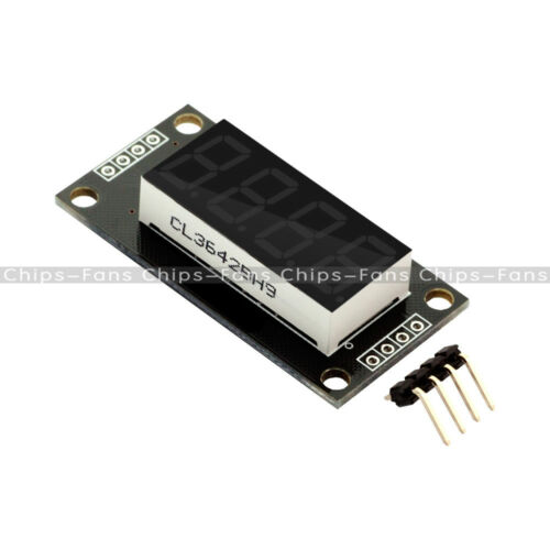 "0.36/"" TM1637 Yellow Digital 7-Segment 4digit Tube LED Display Module For Arduino"