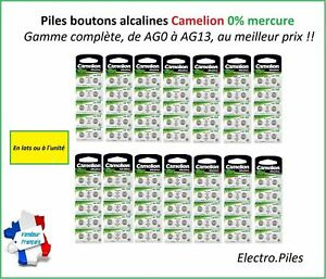 Piles-boutons-lithiums-alcalines-Camelion-CR2032-CR2025-CR2016-AG1-4-5-10-13