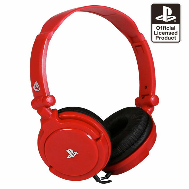 PS4 Gaming Chat Headset with Mic RED Officially Licensed PRO4-10 (PS4 & Vita)