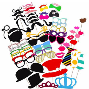 60-party-props-Photo-cabines-Moustache-Anniversaire-Fiancailles-Mariage-drole-B60060